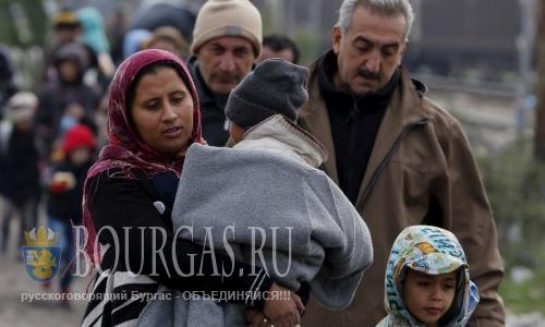 Сотрудники пограничной полиции Болгарии задержали нелегальных мигрантов