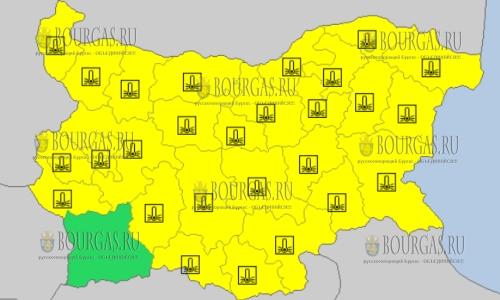 27 февраля в Болгарии — морозный Желтый код опасности
