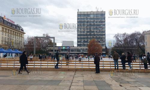 Начал свою работу открытый ледовый каток в Пловдиве