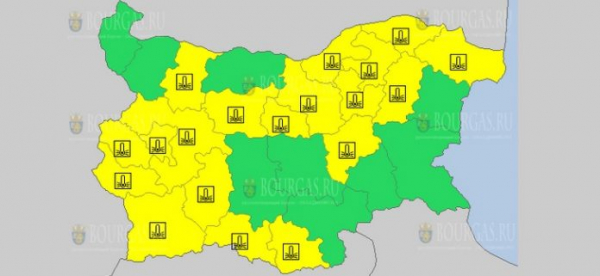 16-го февраля в Болгарии объявлен морозный Желтый код опасности