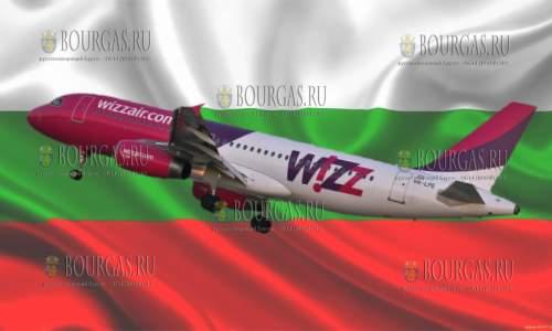 Wizz Air планирует летом 2021 года осуществлять полеты из Бургаса в Киев