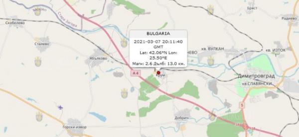 7 марта 2021 года на Юге Болгарии произошло землетрясение…