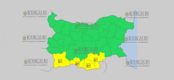 23 января в Болгарии — ветреный и дождливый Желтый код опасности