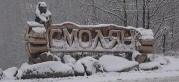В Смолянском области снежный покров почти 10 см