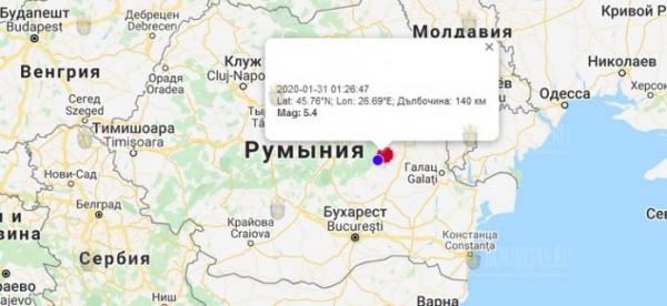 В Болгарии сегодня ощутили землетрясение