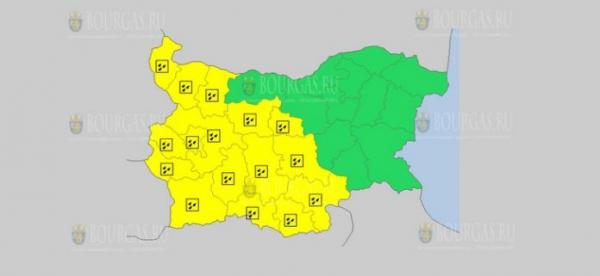 13 апреля в Болгарии — дождливый Желтый код опасности