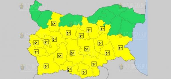 19-го апреля в Болгарии объявлен Желтый код опасности
