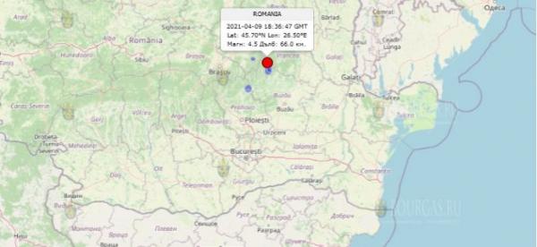 Землетрясение в Румынии ощущалось в Северных районах Болгарии