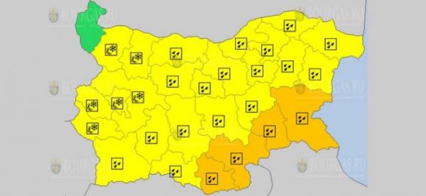 Завтра в Болгарии погода серьезно испортится
