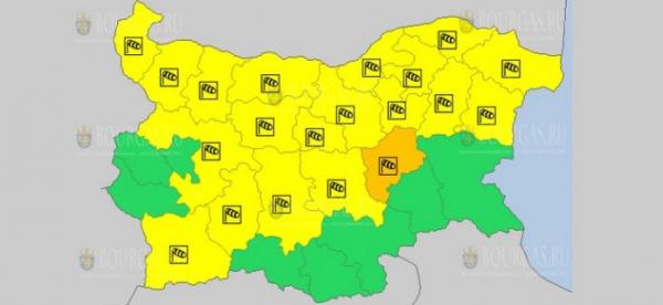 8-го мая в Болгарии объявлен Оранжевый и Желтый код опасности