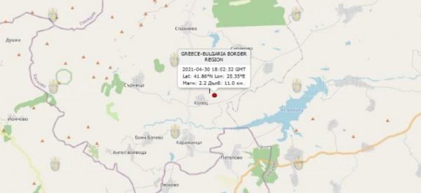 30 апреля 2021 года в Центре Болгарии произошло землетрясение