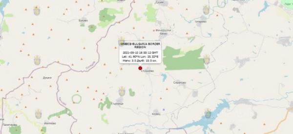 10 мая 2021 года в Юге Болгарии произошло землетрясение