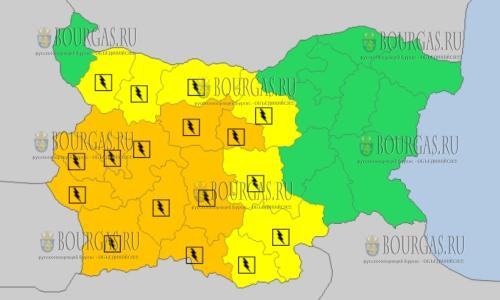 16 июля в Болгарии — грозовой Оранжевый и Желтый коды опасности