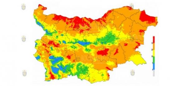 В 15 областях Болгарии объявлен Красный код пожароопасности