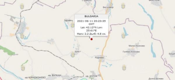 11 июня 2021 года в Болгарии произошло землетрясение