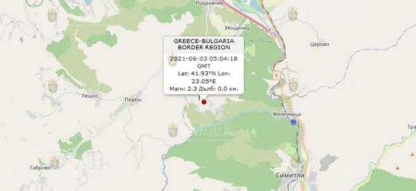 3 июня 2021 года в Болгарии произошло землетрясение