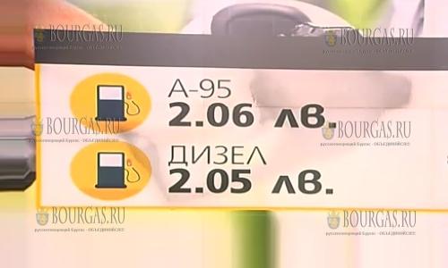 Бензин и дизельное топливо в Болгарии немного подешевели