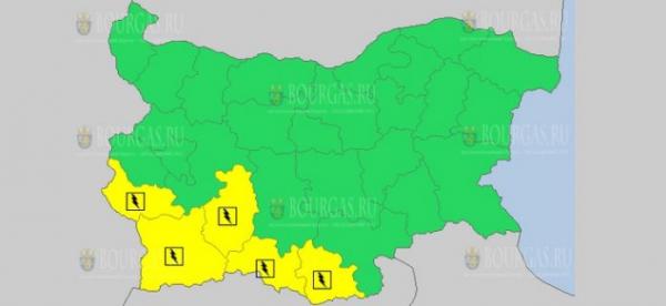 7-го июня в Болгарии объявлен Желтый код опасности