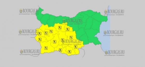27 августа в Болгарии — грозовой и дождливый Желтый код опасности
