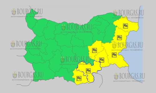 26 сентября в Болгарии — ветреный Желтый код опасности
