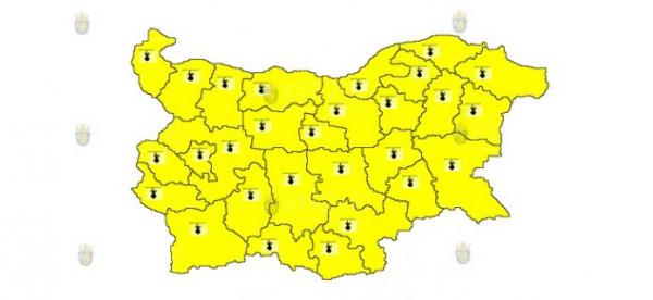 15-го июля в Болгарии объявлен Желтый код опасности