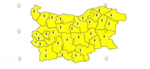 16-го июля в Болгарии объявлен Желтый код опасности