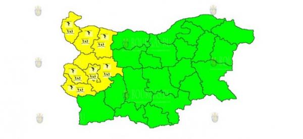 19-го июля в Болгарии объявлен Желтый код опасности