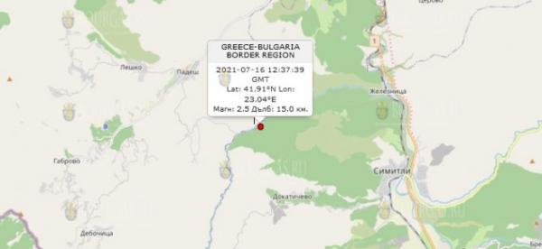 16 июля 2021 года в Болгарии произошло землетрясение