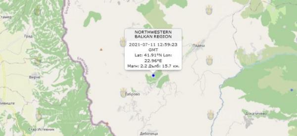 11 июля 2021 года в Болгарии произошло землетрясение