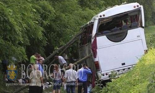 Автобус забитый туристами попал в ДТП на Солнечном Берегу