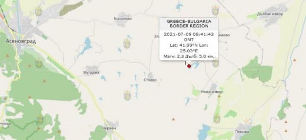 9 июля 2021 года в Болгарии произошло землетрясение