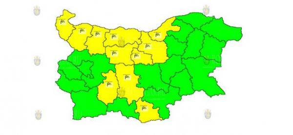 21-го июля в Болгарии объявлен Желтый коды опасности