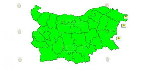 6-го июля во всей Болгарии объявлен Желтый код опасности