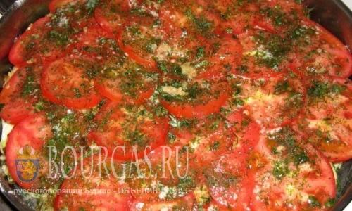 Болгарские блюда — кабачки с помидорами