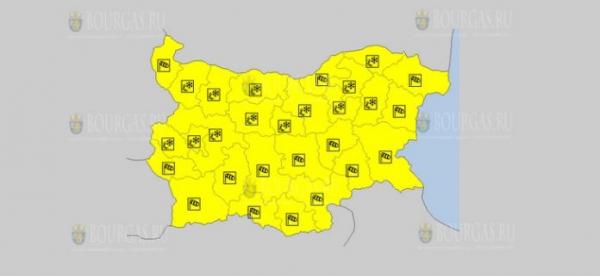 На 5 февраля в Болгарии — ветреный и снежный Желтый код опасности