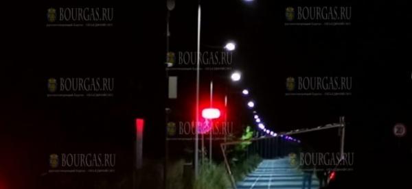 Велодорожка в Бургасе, от Капаните до Солниците — с новым освещением