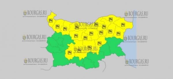 16 января в Болгарии — ветреный Желтый код опасности