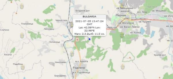 5 июля 2021 года в Болгарии произошло землетрясение