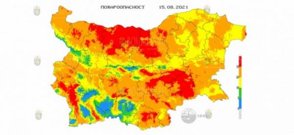 15-го августа в 20 областях Болгарии объявлен Красный код пожароопасности