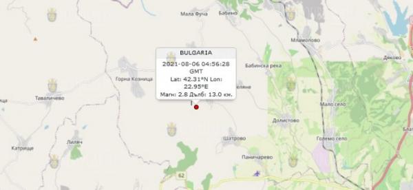6 августа 2021 года в Болгарии произошло землетрясение
