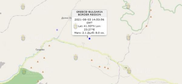 3 августа 2021 года в Болгарии произошло землетрясение
