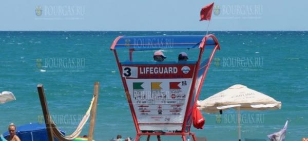 Желтый флаг сменился на Красный на северном пляже в Бургасе