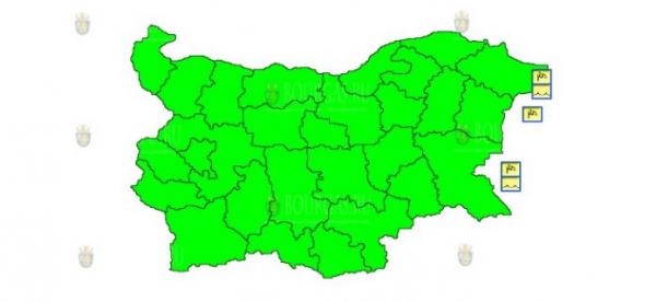 7 августа в Болгарии впервые за несколько дней не объявлен Желтый код опасности
